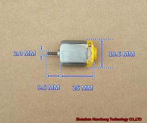 새로운 12V 65mA 13000RPM 130 마이크로 DC 모터 강력한 자석 저소음 금속 브러시 4 륜 구동 장난감 모터 ~