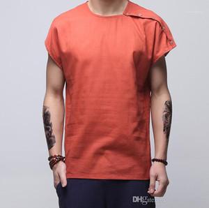 Lâche Mince T-Shirt Mens Designer T-Shirt Chinois Style Mens Designer T-Shirts De Mode Vintage Plus La Taille Linge Ras Du Cou