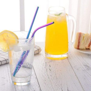 Bubble Tea Straw Smoothie de palha colorida Bebida Láctea Tea Straw 304 inoxidável amigável Eco Aço dia dos namorados presentes