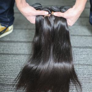 BeautyStarQuality 100% de la cutícula del pelo brasileño de la Virgen Alineados peruana onda recta onda del cuerpo de las extensiones del pelo primas sin procesar