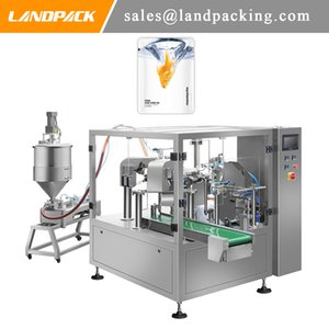 Cod Liver Oil Stand Up Pouch Filling And Sealing Machine Various Oil Liquid Rotary Packing Machine