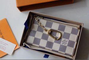 4 Farbe Schlüsseltasche der neuen Männer Frauenmappen kurze weibliche Art und Weise null Geldbeutel europäischen Stil Dame lässig clutchs mit Box