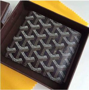 avec la boîte 2020 France Paris Hommes Célèbre Hommes Femmes Portefeuille en toile enduite PU cuir multiples à court Portefeuilles