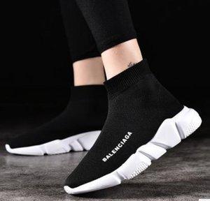 BB2 2020 calcetín del zapato de velocidad Formadores zapatillas de deporte de los calzados informales del calcetín de los corredores de carreras negro calza a hombres y mujeres que recorren los deportes atléticos PWUB