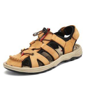 Sıcak Satış-Moda Yeni Nefes Sandalet Açık Plaj Katır Casual Erkek Ayakkabı Düz Takunyalar Zapatos De Hombre