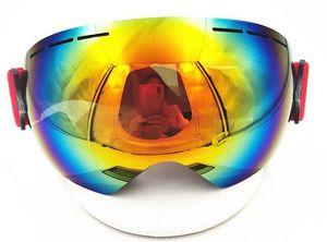 Gran esfera de una sola capa antiálogo antiálogo de esquí enamorado tarjeta de esquí de noche, gafas de esquí, exportación, hombres, mujeres, entrenamiento de la tienda de Yakuda, transpirable