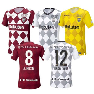 2020 2021 Vissel Soccer Jerseys J1 League #8 A.INIESTA OGAWA DOUGLAS Soccer Uniform 2020 #16 FURUHASHI KYOGO Home Away Third Football Shirt