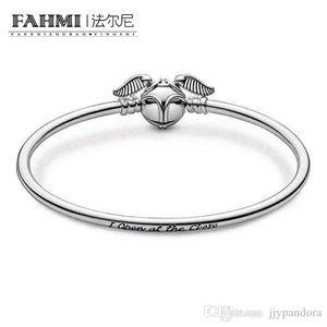 Donia 100% Argent 925 Charm 598619C00 Moments Vif d'or fermoir Bangle et exquis Mode Mesdames Bracelet Bijoux