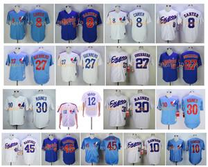 Montreal Expos Vintage Jerseys 8 Gary Carter 12 Tom Brady Andre Dawson 27 Vladimir Guerrero 30 Tim Raines 45 Martinez MN Baseball Jerseys