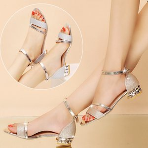 New High Quality European Style Brand Shoes Imported Leather Female Sandalsdesigner Has Tag Female Slippers Women's Fashion High Heels