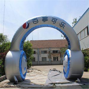 5m alta Inflável Arch Para discoteca gigante decorativa arco headset inflável