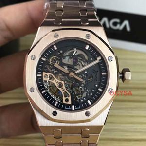 Lüks Royal Oak ÇİFT DENGESİ TEKERLEKLİ OPENWORKED Otomatik hareketi erkek tasarımcı İzle Elmas Saatler Etiket İzle saatı Womens