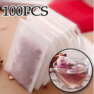 Fashion Hot Empty Teabags Tea Bags String Heal Seal Filter Paper Teabag for Herb Loose Tea 5.5 x 7CM 6*8 7*9 8*10