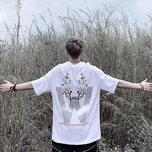 Camiseta masculina de alta qualidade verão estilo 19ss 3m Reflexão t camisa üstün t camiseta com impressão
