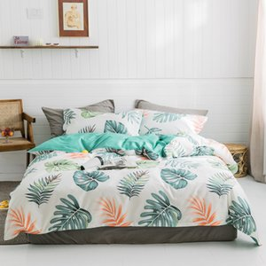Quilt Cover Bed Sheet Pillowcase Pillow Cover Sets Pure Cotton four-piece twill duvet Cover Sets Bedding Supplies Color Joint Polyester