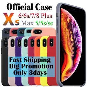 Cajas oficiales de silicona para iPhone 7 8 6 Plus Cover Capa para iPhone 12 11 Pro Max Xr Funda XR en iPhone 7 6s 8 Plus x 5s Coque