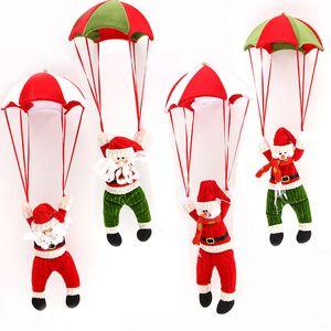 Paracaídas de Navidad Santa Claus Drop Adornos Cutensil Cute Snowman Santa Claus Christmas Party Tree Pendant
