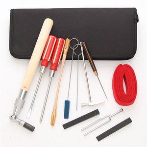 Freeshipping 13pcs / set kit di strumenti per la manutenzione del tuning del pianoforte con custodia per accessori per strumenti musicali