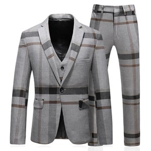 3 pieces terno masculino slim fit good quality fashion striped mens suits designers 2018 plus size 5xl