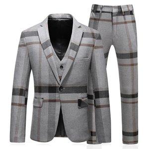 3 pezzi terno MASCULINO slim fit moda di buona qualità mens righe tute designer 2018 plus size 5XL