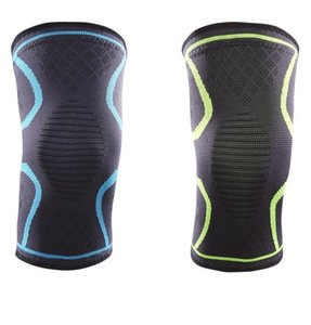6sizes fashion sports silicone antiskid knee pads knit elastci compression leg support sleeve for men women teenager cycling outdoor fitness