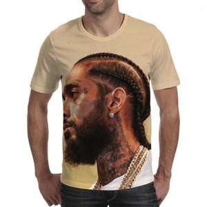 Tshirts kısa kollu 19ss Yeni Nipsey hussle 3D Baskılı T shirt Erkekler Rapçi Hiphop Kaykay Tops