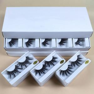 Vente en gros 25 mm Lashes 10 styles 25 mm Faux Cils épais Strip Mink Lashes Maquillage dramatique long Vison Cils En vrac