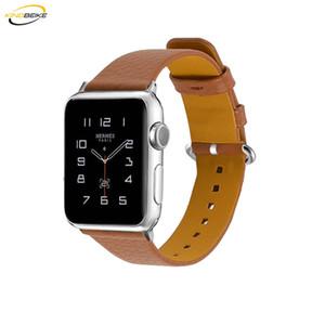 5 cores pulseira de couro para apple watch série 1/2/3/4 38mm / 42mm moda banda iwatch 40mm / 44mm substituição pulseira de relógio de pulso