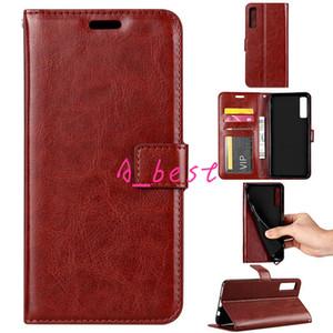 Retro PU Housse en cuir Téléphone Stand flip pour Samsung J2 J3 J4 J6 J8 A6 A8 A7 plus 2018 S9 Note9