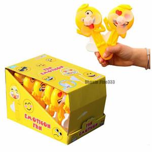 لعبة التعبير عن المعجبين ، المروحة العاطفية الشخصية ، شكل مروحة الضغط المصغرة الممتع باليد في راحة اليد