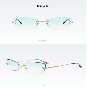 Street shooting wild glasses Kachawoo Man Rimless Eyeglasses Frameless Oversized Gold Metal Retro Glasses Frame Women Big Fashion APKYX oftD