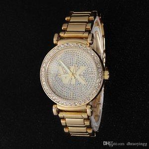 Reloj de las mujeres de acero inoxidable envío de la gota Diseño Casual Rosa Reloj de pulsera de moda para mujer de lujo de cuarzo Rhinestone Reloj Relojes De Marca Mujer