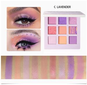 HANDAIYAN Eye Makeup Eyeshadow Pallete 9 Color Shimmer Pigmented Eye Shadow Maquillage Matte Shimmer Eye Shadow Powder Beauty