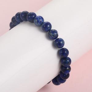 Новый Лазурит бисером браслеты для мужчин женщин мода натуральный камень энергии браслет эластичный 2019 ручной работы ювелирные изделия подарок