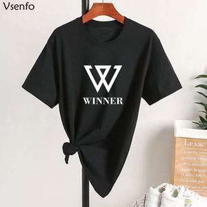 Gewinner T-shirt Unisex Kpop koreanische ExO T-Shirt Frauen Männer Sommer Baumwolle Harajuku Damen T Shirts Camisa Femenina Übergroßen