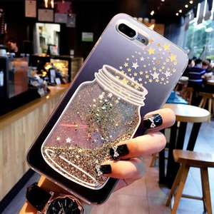 Flowing Quicksand Case For Iphone 7 Plus Xr Xs Max X 8 7 6 6s Plus Cute Bear Dolphin Bling Powder Phone Cases Clear Cover
