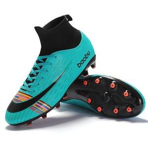 NEW 2019 Turf Indoor Men Women Soccer Shoes Kids Futsal Cleats Hard Court Training TF Football Boots Sport Sneakers Size 35-46