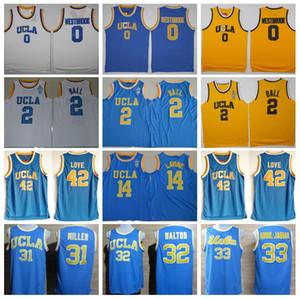 UCLA Bruins College Jerseys Baloncesto Russell Westbrook 0 Lonzo Ball 2 Zach LaVine 14 Kevin Love 42 Kareem Abdul Jabbar Reggie Miller