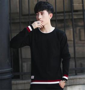 Designer Maglioni Moda Slim rivestite Pullover collo di squadra del Mens dei maglioni casual Maschi Abbigliamento Stripe con pannelli Mens