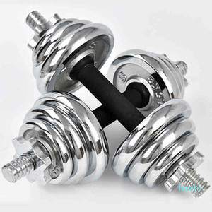 Wholesale-CHAOKAI Adjustable Electroplating Weights Man Rubber-covered Dumbbell Set Barbell Home Gym Fitness Training Weigh gym equipment