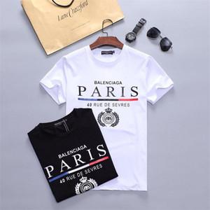 Erkekler ile Mektupları Baskılı Tshirt Boyut M-3XL HH78 için 2020 yeni moda Marka Tasarımcısı T Gömlek Hip Hop Beyaz Erkek Giyim Casual T Shirt