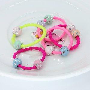 isnice 30pcs Shine Ball Hair bands, Children Girl Fashion Hair ornaments, High Quality Headwear