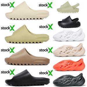 adidas yeezy slides Stok X kanye west Terlik Erkek Kadın Çocuk Slaytlar Terlik tasarımcı ayakkabı Sandalet Köpük Koşucu sneakers