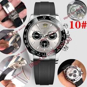 13 cores de Luxo 40mm Men Watch 2813116506 Rubber strap DATA aço inoxidável função Sem Chronograph Automático Mecânica Mens Watch Relógios