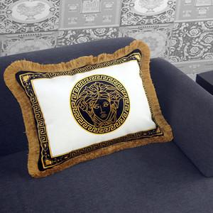 Personalisierte Quasten Kissen Büro pillowcase Sofakissen europäisches Luxus kleines Unternehmen mit High-End-Sofakissen Kissenbezügen lange
