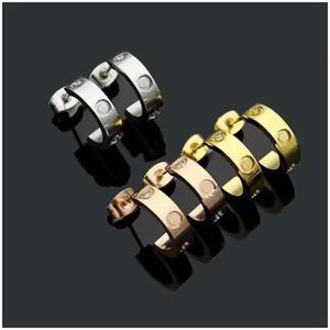 Titan Edelstahl-Liebes-OhrringeEardrop Gold Silber Rose Gold für Frauen Schmuck mit Reißverschluss Kasten