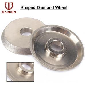 "1/2 Pcs 3 "" Diamond Electroplated Moing Wheel Cup Moering Wheel 45 Degree Circle Grinder Abrasive Tool"
