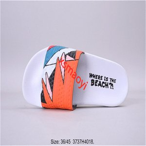 hococal Personality graffiti slippers designer rubber sandals men's slippers gear bottom women striped beach sandals