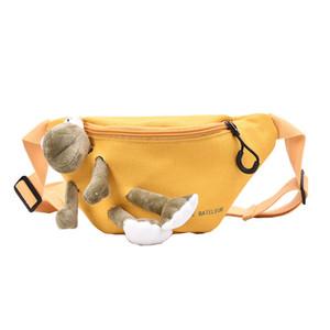 Solide Couleur Toile Sacs de taille pour les femmes 2019 Sacs femme d'hiver de ceinture Lady drôle pack Fashion Cell Phone Sac poitrine