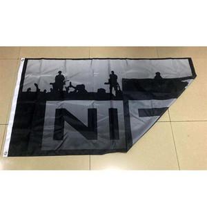 3x5 pieds Drapeau de Nine Inch Nails Banner Flag Black Liberation Unia Pan African Afro Americn Drapeau 5x3 ft volant suspendu Imprimer Polyester